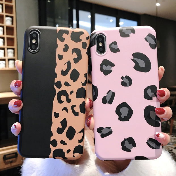 Fashion Colorful Leopard Print Phone Case For Iphone XS Max XR X Case For Iphone 6 6s 7 8 Plus TPU Cover Luxury Soft Cases Capa