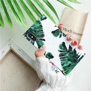 Fashion IMD Green Cactus Leaves Pattern Phone Case For IPhone X TPU Silicone Case For IPhone 8 7 6 6S Plus Back Cover Coque