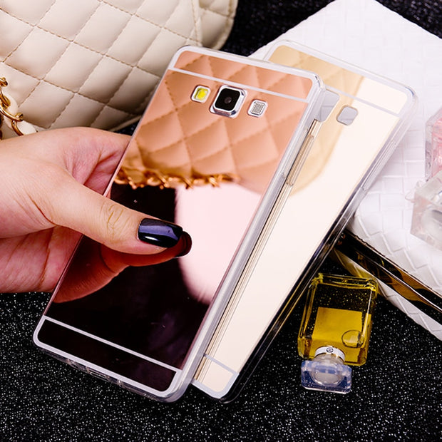 huge selection of 38a70 023e1 Fashion Mirror Soft TPU Back Cover Case For Samsung Galaxy Grand ...