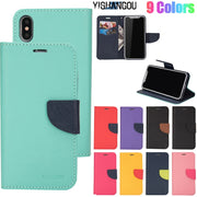 Fashion PU Leather Flip Wallet Phone Case For IPhone X XR XS Max 5 5S SE Card Holder Slots Cover For IPhone 6 6S 7 8 Plus Shells