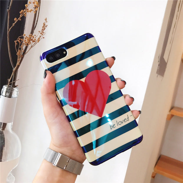 Red love heart case