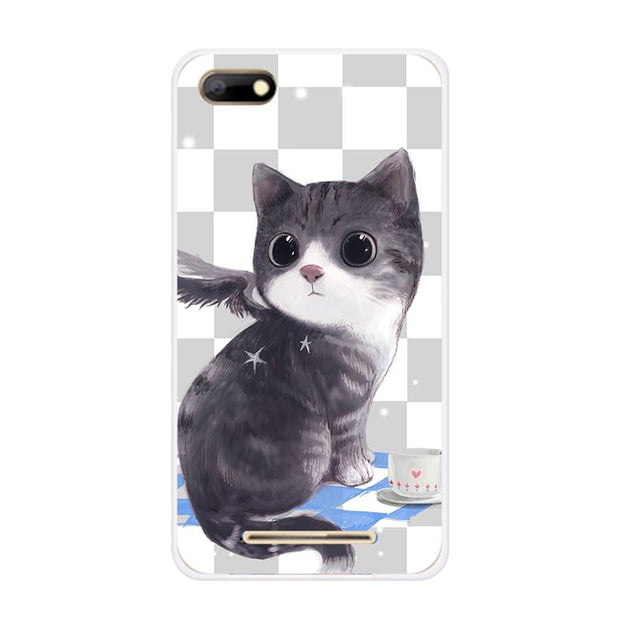 Fashion Soft Cartoon Case For BQ 5020 BQS 5037 5022 5201 5065 Phone Bag Cat Landscape Drawing Back Cover Coque Hot