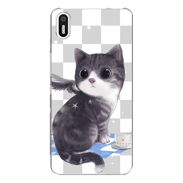 Fashion Soft Cartoon Case For BQ Aquaris X5 X 5 Phone Bag Cat Landscape Drawing Back Cover For BQ X5 Coque Hot
