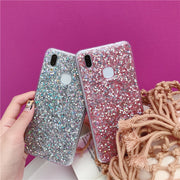 Fashion Bling Phone Cover For Huawei P20 P20Plus P10 P10Plus Nova 3 Pink Star Soft Case For Huawei Mate 10 Hornor V10 V9 Fundas
