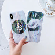 Fashion Laser Marble Case For Iphone X XR XS XS Max Glossy Soft Silicone Case For Iphone 6 6s Plus 7 8 Plus Phone Back Cover