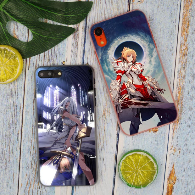 Fate Series Grand Anime Girl Hot Fashion Transparent Hard Phone Cover Case For IPhone X XS Max XR 8 7 6 6s Plus 5 SE 5C 4 4S