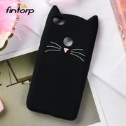 Fintorp 3D Cute Cat Ear Case For Xiaomi Redmi Note 5A Prime Cases Soft Silicone Protective Cover For Xiaomi Redmi Y1 Bumper