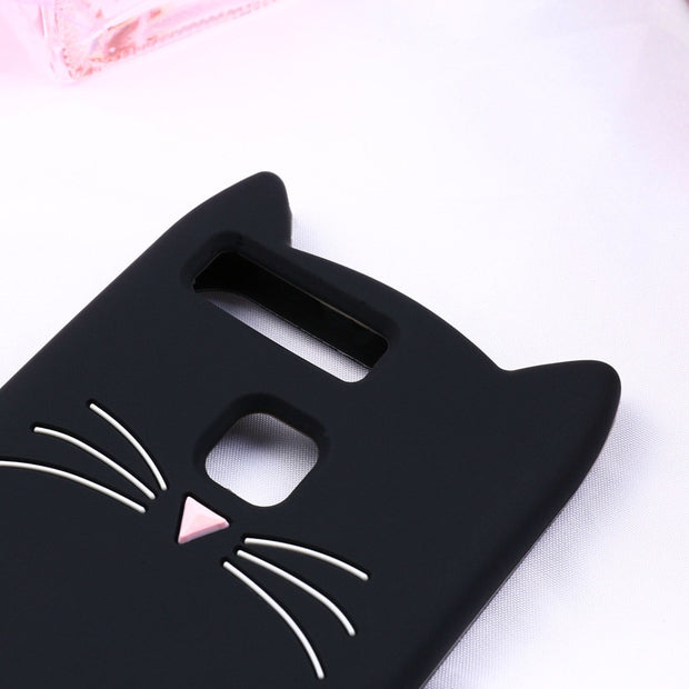 Fintorp Case For Huawei Honor 6X Cases For Huawei Mate 9 Lite Cute Cat Ear Soft Silicone Protective Cover For Huawei GR5 2017