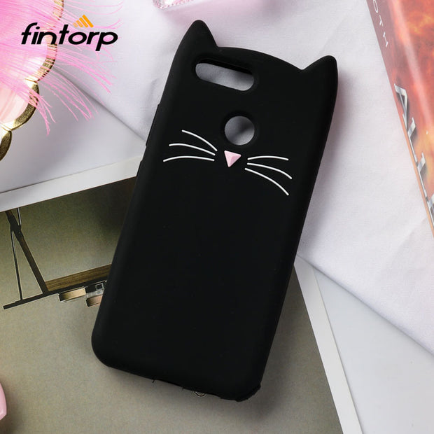 Fintorp Case For Huawei Honor 7X Cases 3D Cute Cartoon Cat Ear Soft Silicone On The Protective Cover For Huawei Mate SE Funda