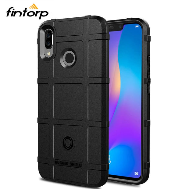 Fintorp Case For Huawei P Smart Plus Cases Army Heavy Silicone Shield Protective Cover For Huawei Nova 3i P Smart+ Bumper Funda