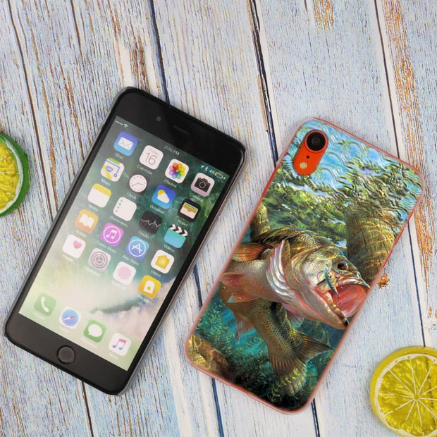 Fishing Gear Fish Patterned Hot Fashion Transparent Hard Phone Cover Case For IPhone X XS Max XR 8 7 6 6s Plus 5 SE 5C 4 4S