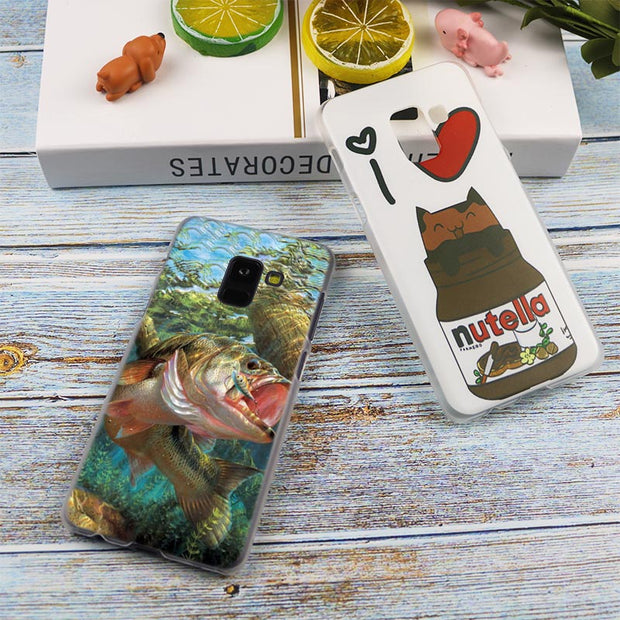 Fishing Gear Fish Patterned Hot Transparent Case For Samsung Galaxy A3 A5 A9 A7 A6 A8 Plus 2018 2017 2016 Star A6S Note9 8 Cover