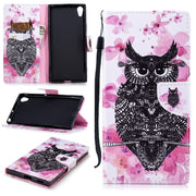 Flip Leather Wallet Luxury Stand Cases For SONY Xa1ultra Trend Capa Patterned Owl With Cards Slot Case For Fundas SONY Xa1ultra
