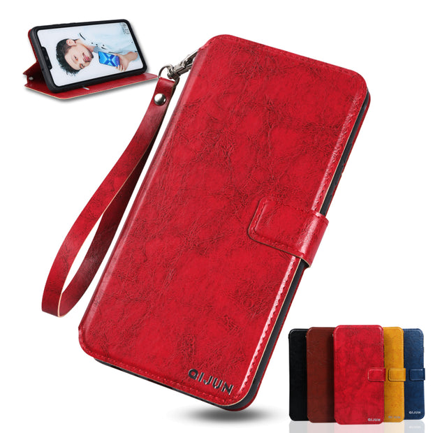 Flip PU Leather Wallet Cover Case For Coque Sony Xperia Z1 Z2 Z3 Z5 Compact Mini Premium Case +Card Slot Lanyard Protective Bag