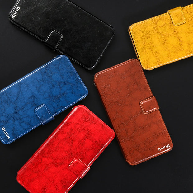 Flip PU Leather Wallet Cover Case For Coque ZTE Blade A610 A601 A510 A910 A520 A330 A6 Case +Card Slot Lanyard Protective Bag