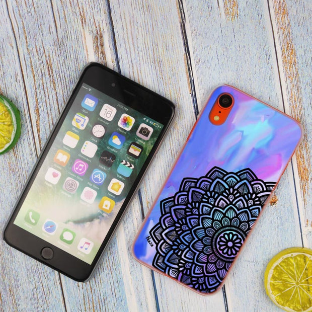 Floral Mandala Hot Fashion Transparent Hard Phone Cover Case For IPhone X XS Max XR 8 7 6 6s Plus 5 SE 5C 4 4S