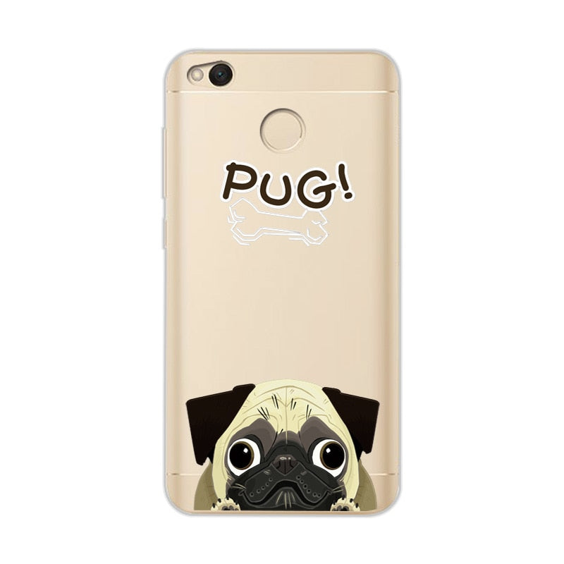 Dog Animal Silicone Case For Redmi 4X
