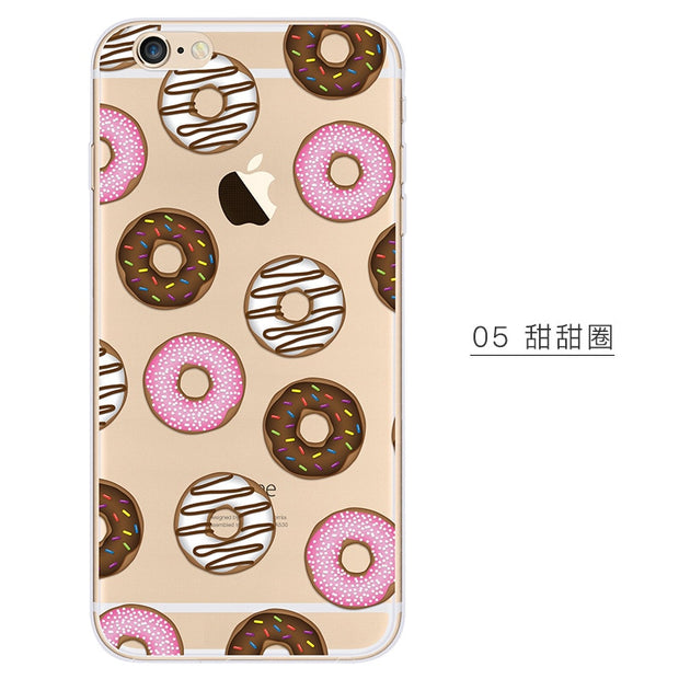 Food Pineapple Ice-cream Cake Thin Phone Cases Soft Silicon TPU Transparent Anti-knock Case For IPhone 6 6s Plus 6Plus