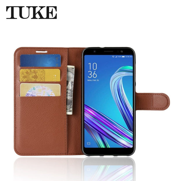 For ASUS Zenfone Max M1 ZB555KL Case Luxury PU Leather Cover Phone Case For ASUS Zenfone Max M1 ZB555KL ZB ZB555 555 555KL
