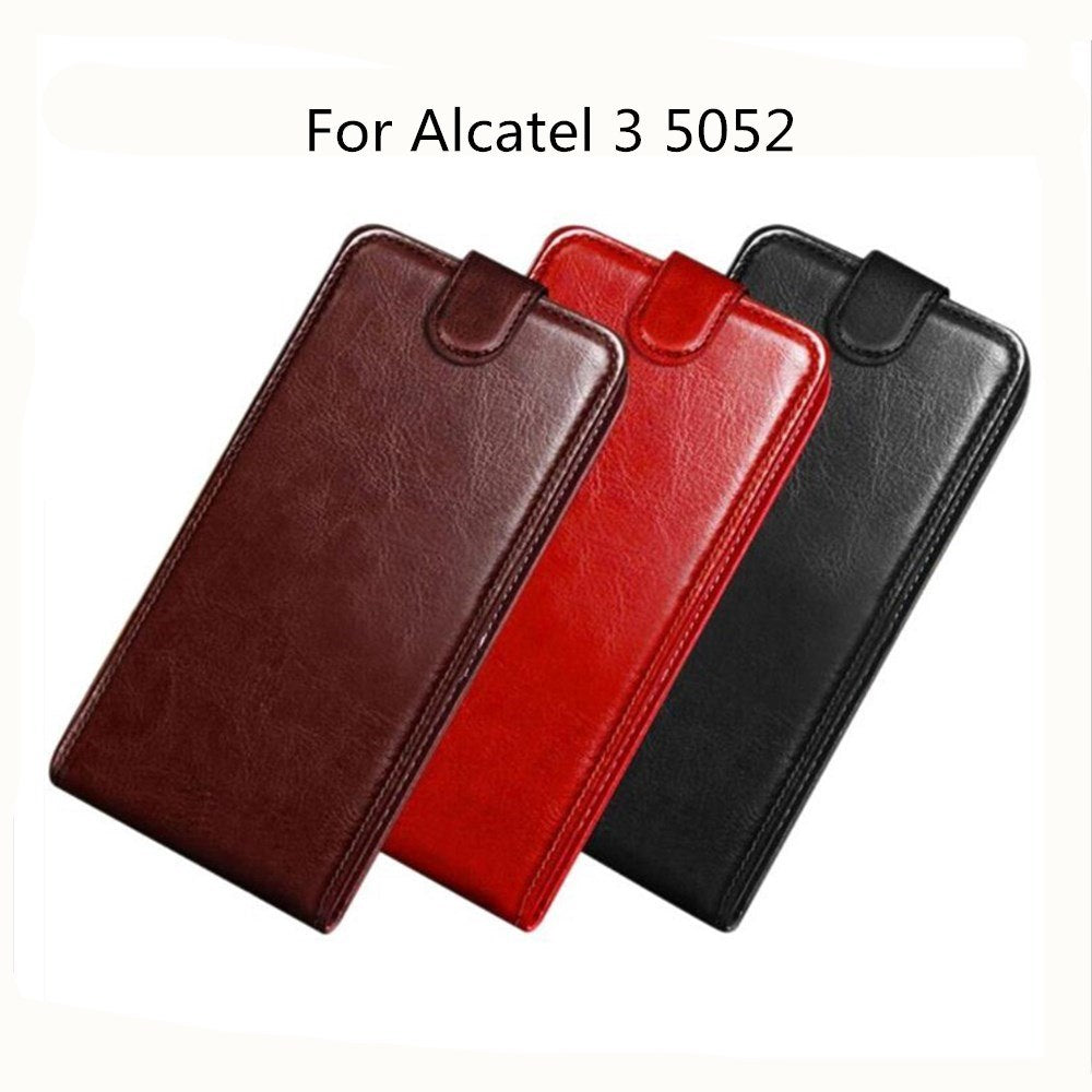 premium selection 9a9d0 93b73 For Alcatel 3 Case Wallet Style PU Leather Mobile Protective Back Cover For  Alcatel 3 5052Y 5052 5052D Phone Bag Cases