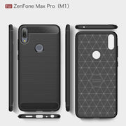 For Asus ZenFone Max Pro (M1) ZB602KL Case Silicone Carbon Bumper Cover Case For Asus ZenFone Max Plus M1 ZB602KL Case ZB601KL