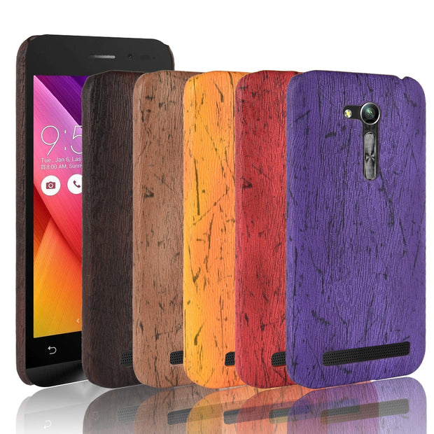 For Asus Zenfone GO 2nd Gen ZB452KG ASUS_X014D ZB450KL Case Cover Wood Grain PU Leather Protective Hard Coque Phone Cases Capa