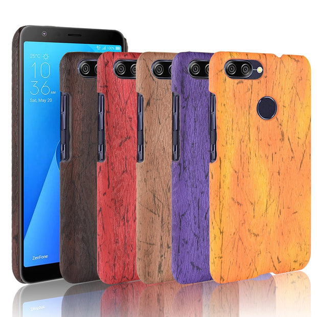 huge discount a9850 4c716 For Asus Zenfone Max Plus M1 Case Luxury Wood Pattern PU Leather Case For  Asus X018D ZB570TL 570TLfashion Phone Case Back Cover