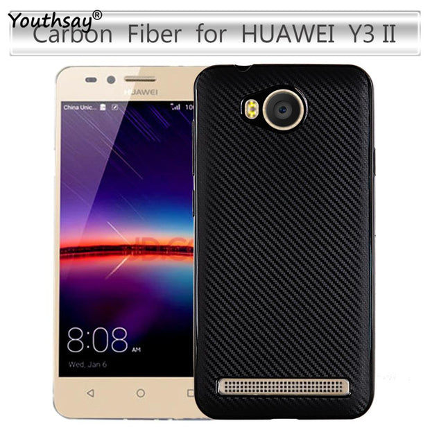 For Case Huawei Y3 II Cover Shockproof TPU Brushed Style Phone Shell Case  For Huawei Y3 II Case Y32 LUA-U22/Lua-L21