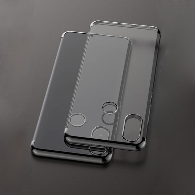 For Coque Case On Xiaomi Mi 8 SE Cases Xiomi Mi8 Cover Back Soft Silicon Transparent Xaomi Ksiomi Phone Plating Black Shockproof