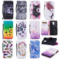 For Coque Huawei Honor 7 Case Leather Wallet Flip Cover Phone Case For Huawei Honor 7 Cover Cat Flower Painted Luxury Flip Case