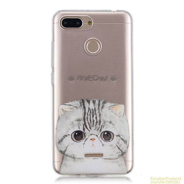 For Coque Xiaomi RedMi 6 Soft TPU Cover Kawaii Cartoon Printed Silicone Case For Xiaomi RedMi 6 Phone Case Caso Capas Tok