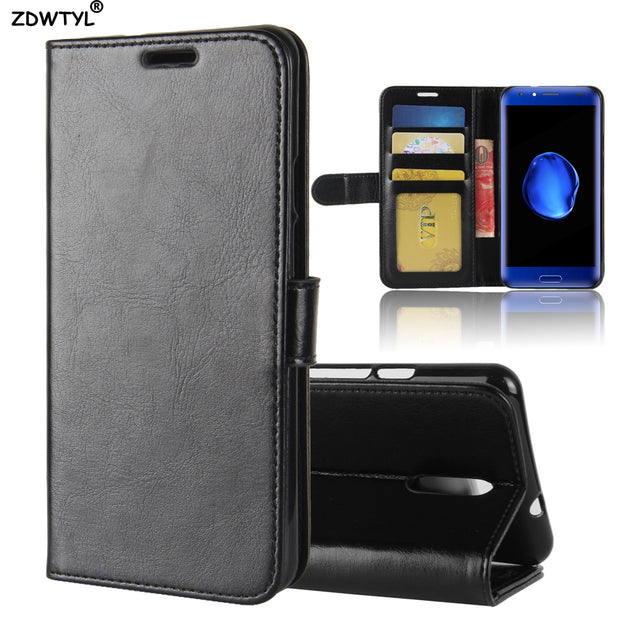 For Doogee BL5000 Wallet PU Leather Case For Doogee BL5000 Luxury Phone Cover Cases KickStand Design With Card Holder
