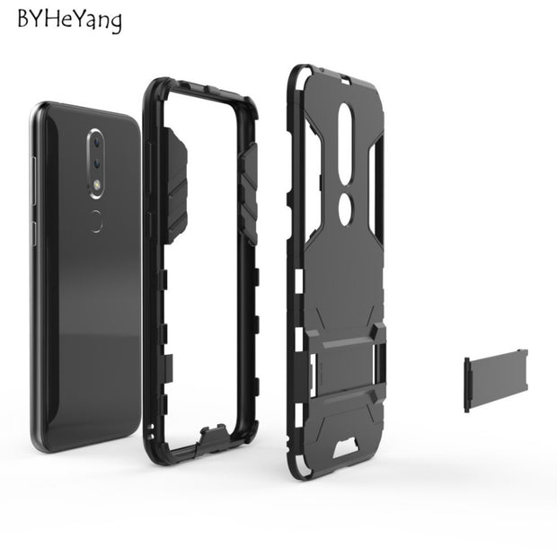 For Fundas Nokia X6 2018 Case Shock-proof Armor PC & Silicone Cover For Nokia X6 2018 Cover For NOKIA X6 NokiaX6 2018 TA-1099