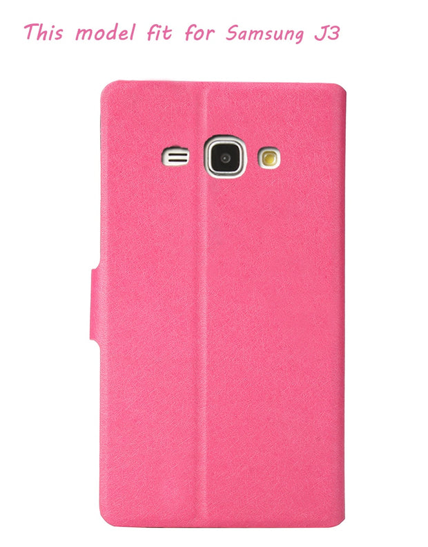 For Fundas Samsung J3 2016 Flip Cover Case Luxury PU Leather Holster For Samsung Galaxy J3 2016 J3 6 Phone Case Coque Mirror