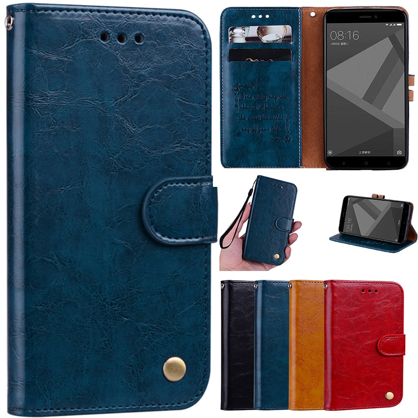 another chance c69e3 0878b For Fundas Xiaomi Redmi 4X Note 5 5A S2 3S 5 Plus Note 4X Flip Cover Luxury  Leather Coque For Xiami Mi A1 5X 6X Funda Phone Case