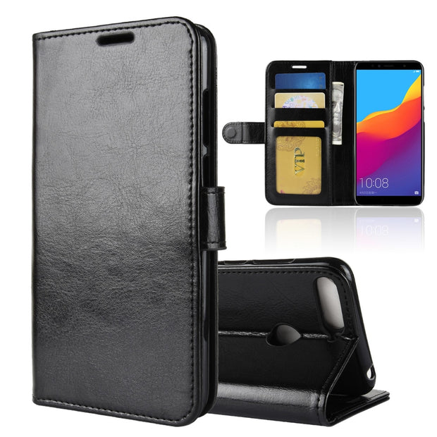 For Huawei Honor 7C Case Honor7C Case Flip PU Leather Phone Case For Huawei Honor 7C 7 C AUM-L41 Russian Version Case 5.7 Cover