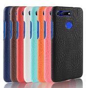 For Huawei Honor View 20 Case 6.4 Inch Crocodile Pattern PU Leather Hard PC Back Cover For Huawei Honor View 20 Case