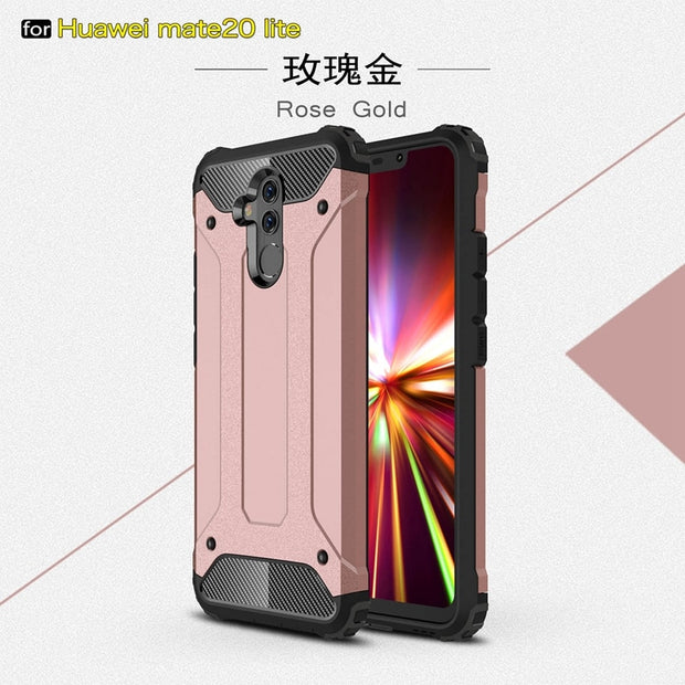 For Huawei Mate 20 Lite Case Mate 20 Pro Case Silicone Hard PC Hybrid Armor Case For Huawei Mate 20 Lite Cover Case Mate 20 Lite
