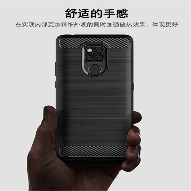 For Huawei Mate 20 X Case Cover Brushed Texture Soft TPU Silicone PU Leather Back Cover Case For Huawei Mate 20X