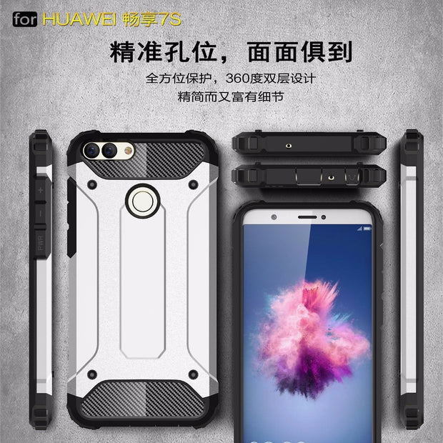 For Huawei P Smart Case Cover Funda New Luxury Shockproof Bumper Protect For Huawei P Smart Smartphone Case Back Cover Coque