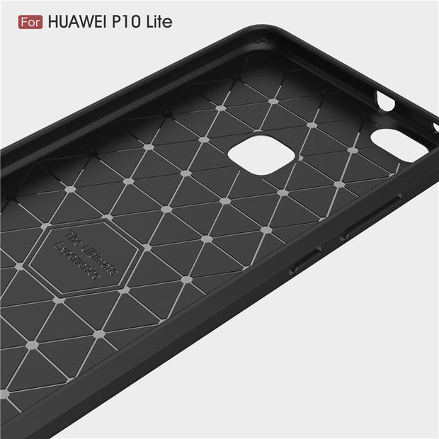 For Huawei P10 Lite Case 5.2 Inch Cases Luxury Carbon Fiber Protective Back Cover Case For Huawei P10 Lite Mobile Phone