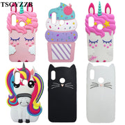 For Huawei P20 Lite Case Nova 3E Cover Phone Shockproof Soft Silicone 3D Cute Cartoon Ice Cream Stitch Unicorn Cat Bottle Funda