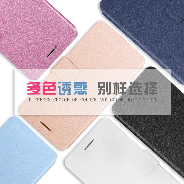 For Huawei P8 Lite Mate 7 Y6 Luxury Classic Flip Stand Cover PU Leather Case For HuaWei Honor 4X 4A 5X 4C Protective Phone Bag