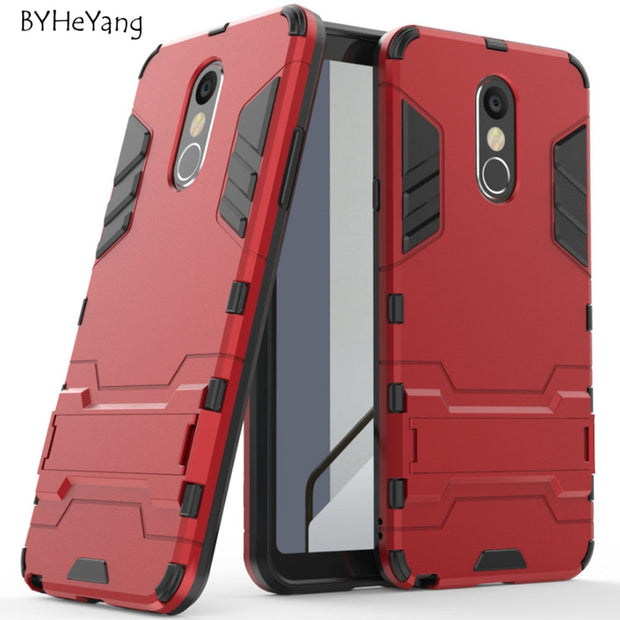 For LG Stylo 4 Case For LG Q Stylo 4 Cover Robot Armor Silicone Rubber Hard Phone Cover For LG Stylo 4 Stylo4 LM-Q710MS Fundas
