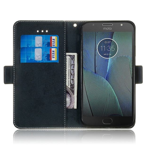 For Moto G5S Plus Phone Etui On For Fundas Motorola Moto G5S G5 S Case Luxury Vintage Flip Wallet Leather Stand Back Cover Coque
