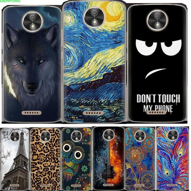 For Motorola Moto C Plus Case Silicone Cover Cat Owl Deer Tower Wolf Coque Cartoon Painting TPU Case For Moto C Plus Phone Case