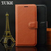 For Motorola Moto E5 Flip Litchi Grain Wallet Stand Case PU Leather Phone Case For Moto E 5 Cover Card Slot