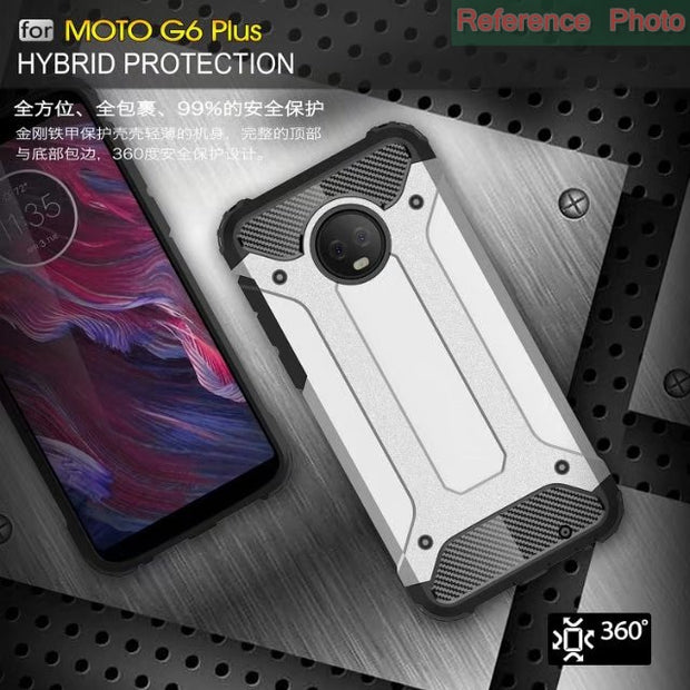 For Motorola Moto G5 Plus G6 Play Case Hybrid Armor Hard Rugged TPU Plastic Cases For MOTO G3 G4 G5 Plus Moto M/Z Force/Z Play/Z
