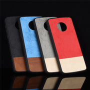 For Motorola Moto G6 Plus Case Two Colors PC+TPU Luxury Leather Back Shell Cover Case For Moto G6 G6+