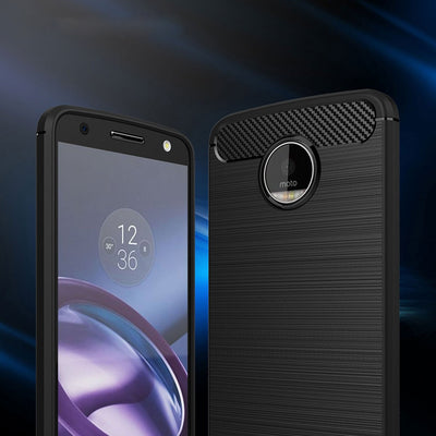 For Motorola Moto Moto Z Force Moto Z Play Carbon Fiber Soft Silicone TPU Cover Phone Case Back Cover For Moto Z Force